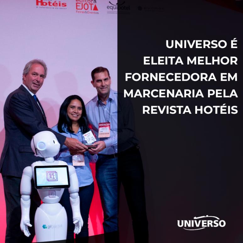 Universo é eleita melhor fornecedora em marcenaria pela Revista Hotéis
