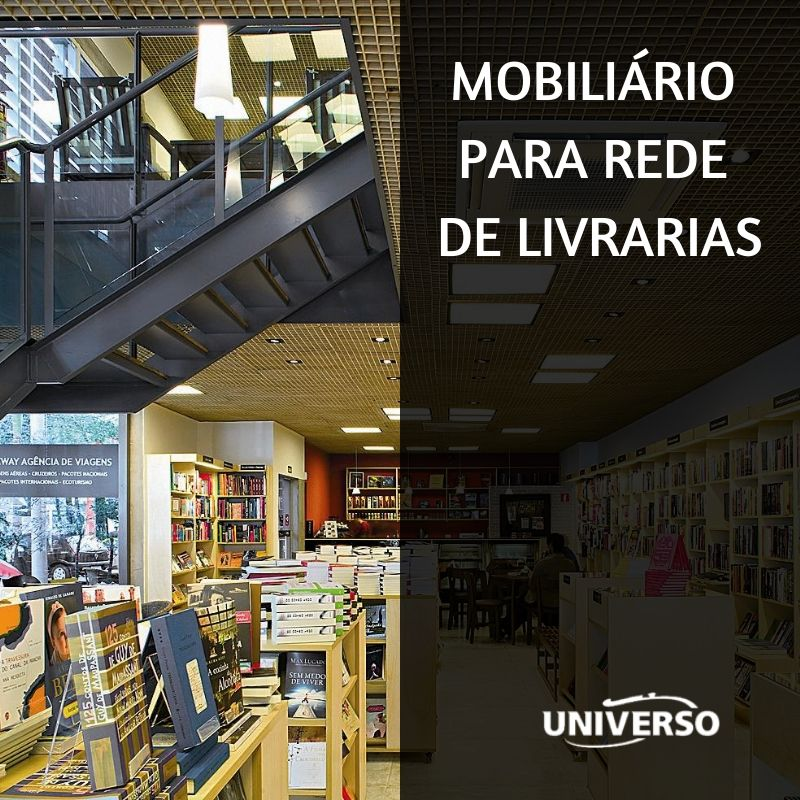 Mobiliário para Rede de Livrarias