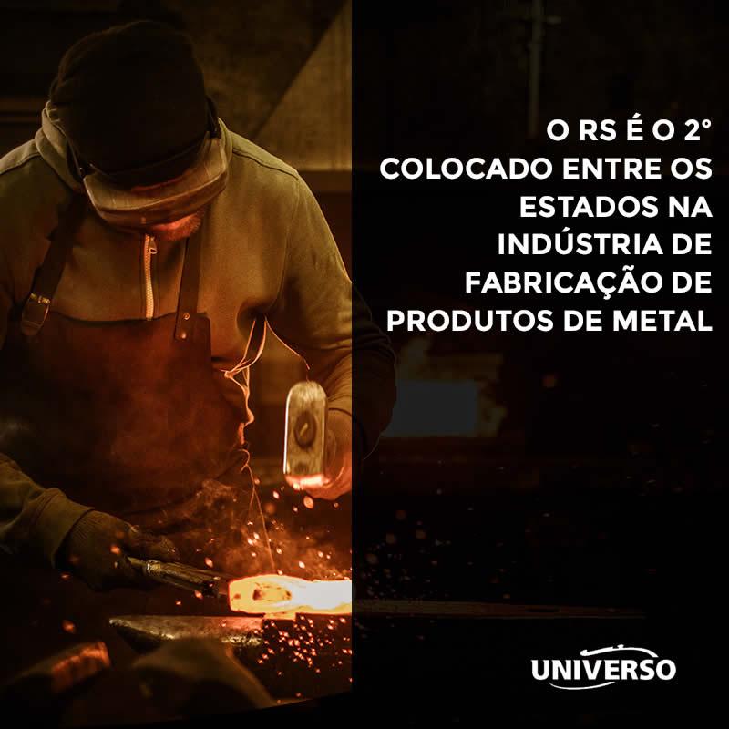 O RS é o 2º colocado entre os estados na indústria de Fabricação de Produtos de Metal
